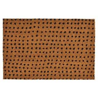TINDBÄK Door mat, indoor, natural/black, 40x60 cm