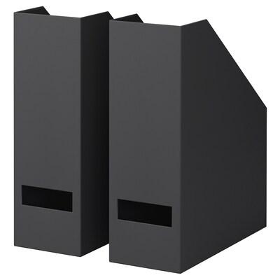 TJENA magazine file black 10 cm 25 cm 30 cm 2 pack