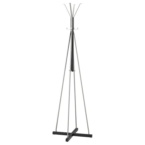 TJUSIG Hat and coat stand, black, 193 cm
