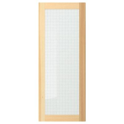 TORHAMN glass door natural ash 39.7 cm 100 cm 40 cm 99.7 cm 2.0 cm