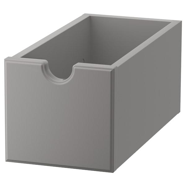 TORNVIKEN Box, grey, 16x34x15 cm