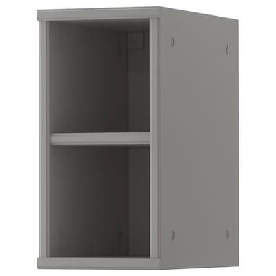 TORNVIKEN Open cabinet, grey, 20x37x40 cm
