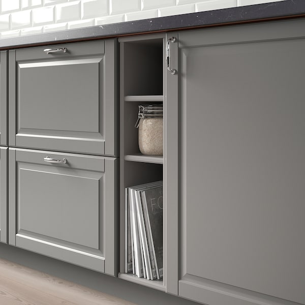 TORNVIKEN Open cabinet, grey, 20x37x80 cm