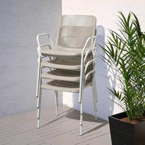 TORPARÖ chair with armrests, in/outdoor white/beige 110 kg 55 cm 54 cm 81 cm 42 cm 41 cm 46 cm