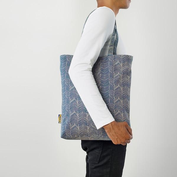 TREBLAD bag blue/beige 40 cm 40 cm
