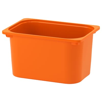 TROFAST storage box orange 42 cm 30 cm 23 cm