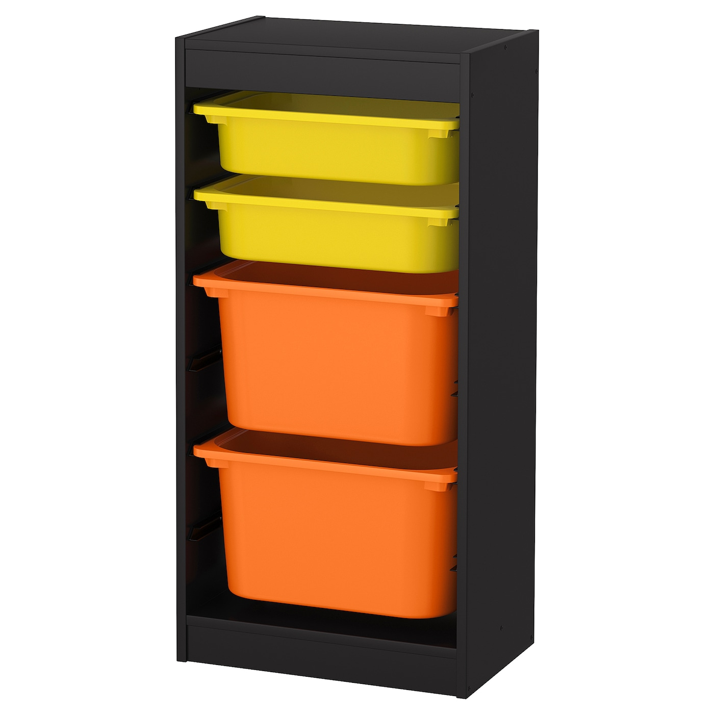 Trofast Storage Combination With Boxes Black Green White