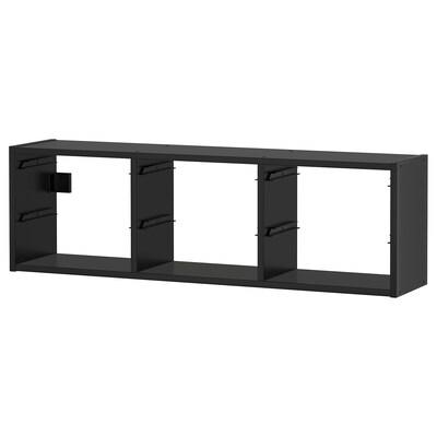 TROFAST Wall storage, black, 99x21x30 cm