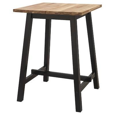 TYBYN Bar table, acacia/black, 74x74x102 cm