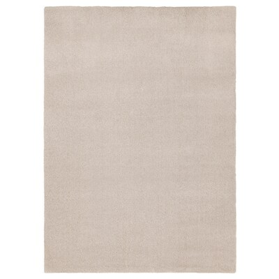 TYVELSE Rug, low pile, off-white, 170x240 cm