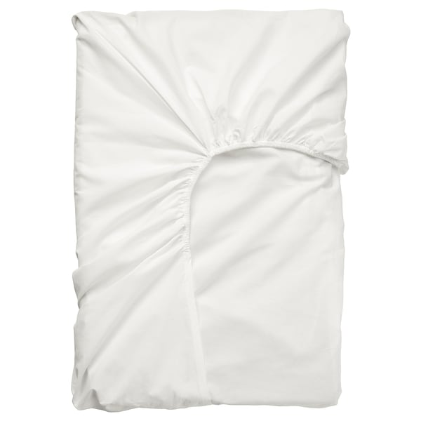 ULLVIDE Fitted sheet for mattress pad, white, 180x200 cm