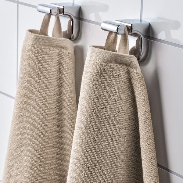 VÅGSJÖN Bath towel, light beige, 70x140 cm
