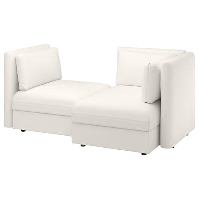 VALLENTUNA 2-seat modular sofa with sofa-bed, and storage/Murum white