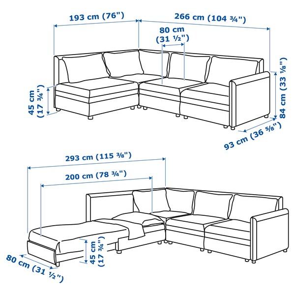 VALLENTUNA Modular corner sofa 3-seat+sofa-bed, and storage/Hillared dark grey