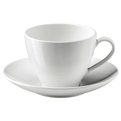VÄRDERA Teacup with saucer, 36 cl