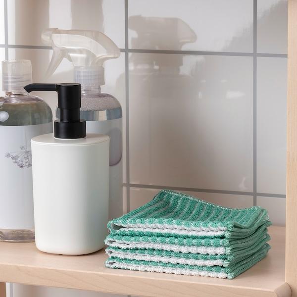 VÅRFINT Dish-cloth, patterned, 25x25 cm