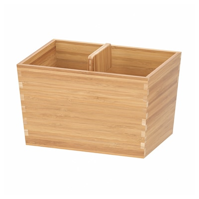 VARIERA Box with handle, bamboo, 24x17 cm