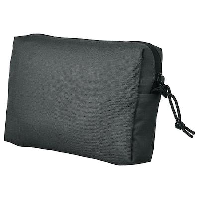 VÄRLDENS Accessory bag, dark grey/medium, 16x4x11 cm