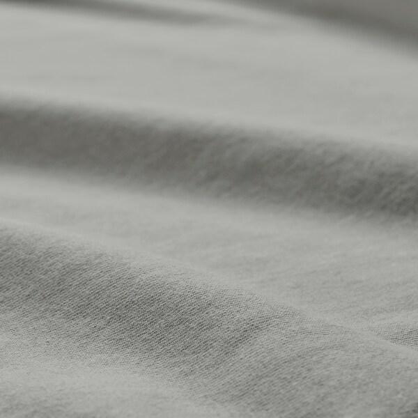 VÅRVIAL Fitted sheet, light grey, 180x200 cm