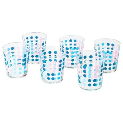 VECKAD glass patterned 9 cm 30 cl 6 pack