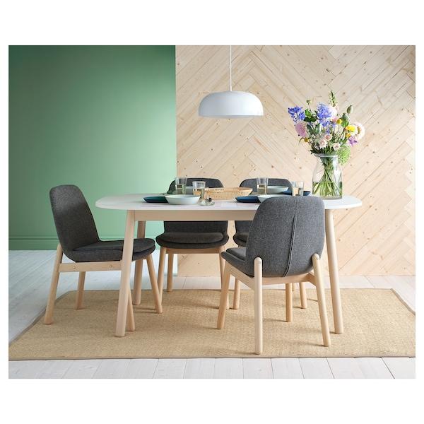 Eetkamer Stoel Ikea.Vedbo Chair Birch Gunnared Medium Grey Ikea