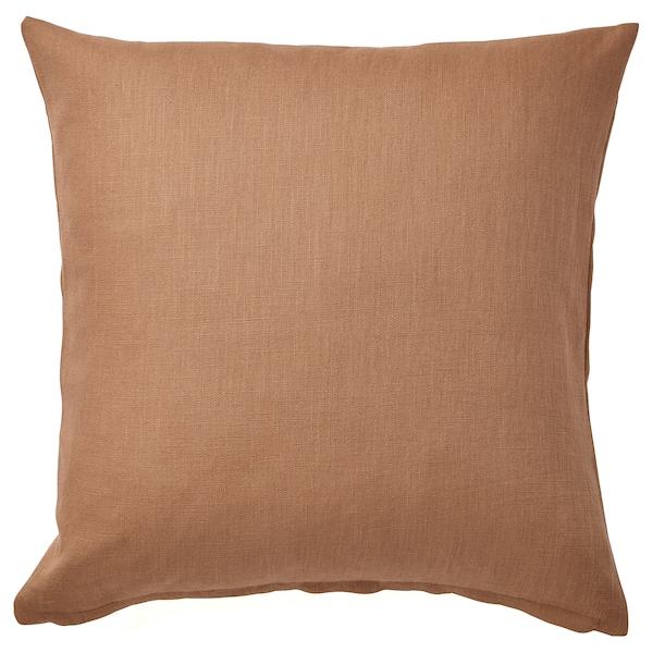 VIGDIS Cushion cover, light brown, 50x50 cm