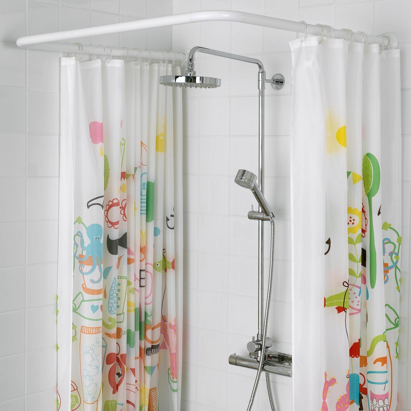 Vikarn Shower Curtain Rod White Ikea