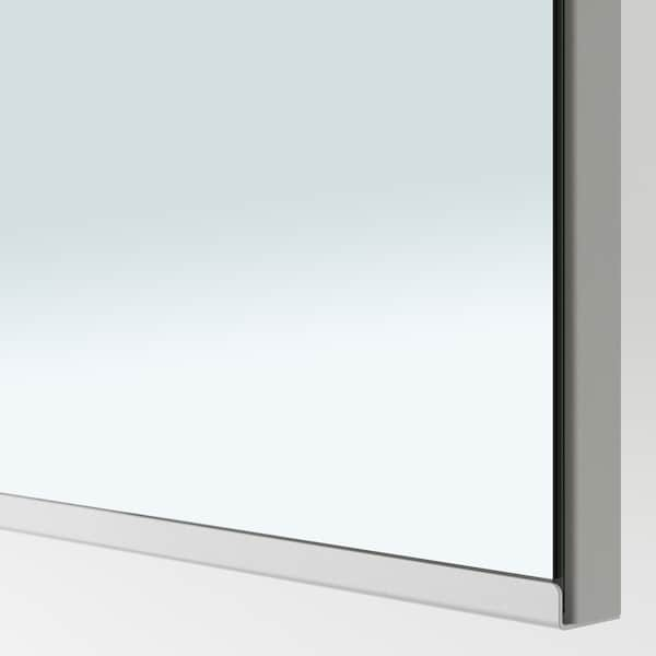 VIKEDAL Door with hinges, mirror glass, 50x229 cm