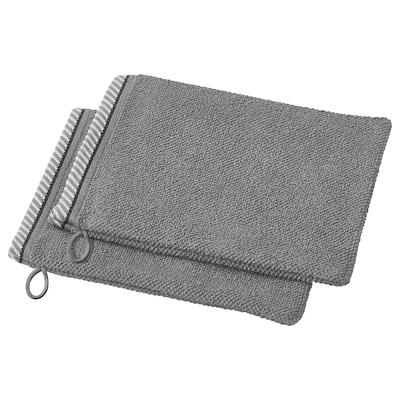 VIKFJÄRD Washing mitt, grey, 15x20 cm