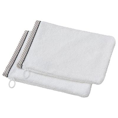 VIKFJÄRD Washing mitt, white, 15x20 cm