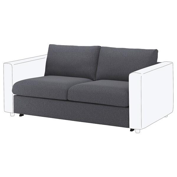 VIMLE 2-seat sofa-bed section, Gunnared medium grey