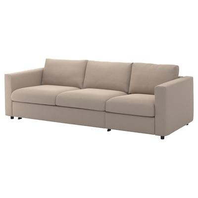 VIMLE 3-seat sofa-bed, Tallmyra beige