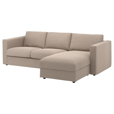 VIMLE 3-seat sofa, with chaise longue/Tallmyra beige