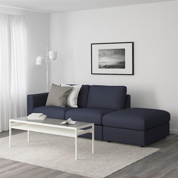 VIMLE 3-seat sofa, with open end/Orrsta black-blue