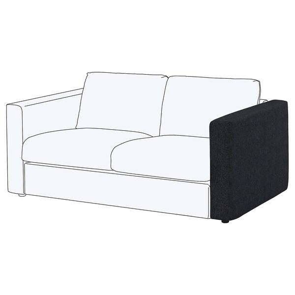 VIMLE Cover for armrest, Tallmyra black/grey