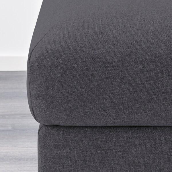 VIMLE footstool with storage Gunnared medium grey 98 cm 73 cm 48 cm 6 cm 105 l