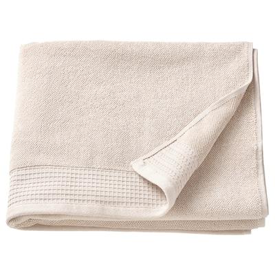 VINARN Bath towel, light grey/beige, 70x140 cm