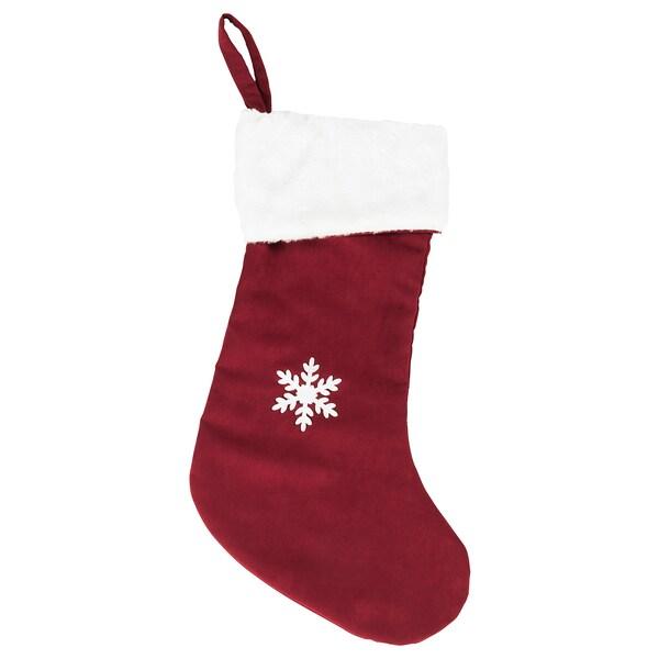 VINTER 2020 Christmas stocking, red, 49 cm