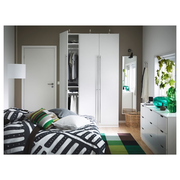 VINTERBRO Door with hinges, white, 50x195 cm