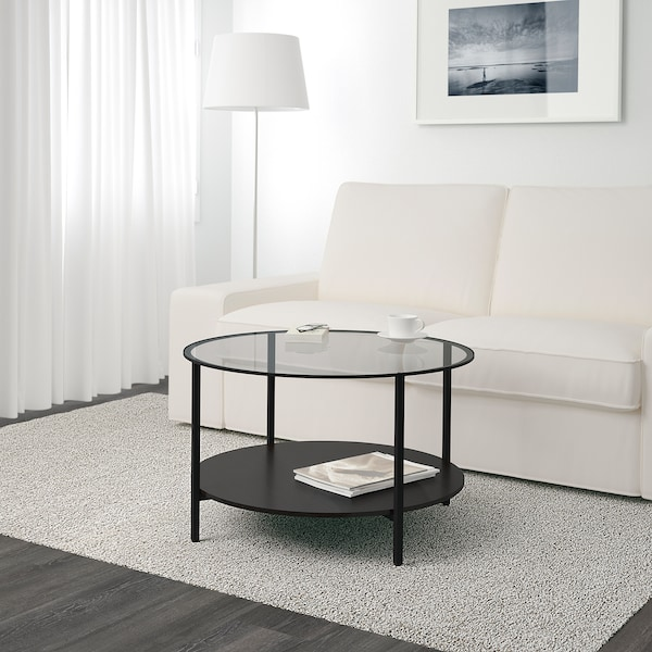 Rond Bijzettafeltje Ikea.Vittsjo Coffee Table Black Brown Glass Ikea