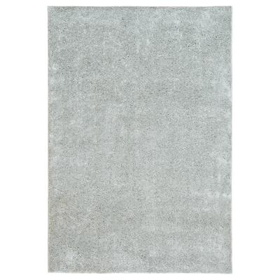 VONGE Rug, high pile, light grey, 133x195 cm