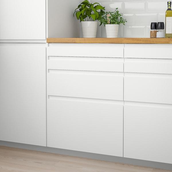 VOXTORP drawer front matt white 79.6 cm 9.7 cm 2.1 cm 2 pack