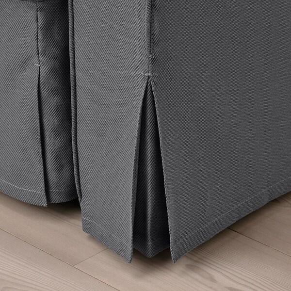 VRETSTORP 3-seat sofa-bed, Hallarp grey