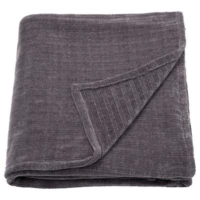 YLVALI Throw, dark grey, 130x170 cm