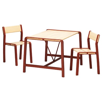 YPPERLIG children's table with 2 chairs 74 cm 62 cm 55 cm