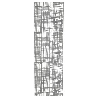 AKVELINA Paneelgordijn, wit/grijs, 60x300 cm