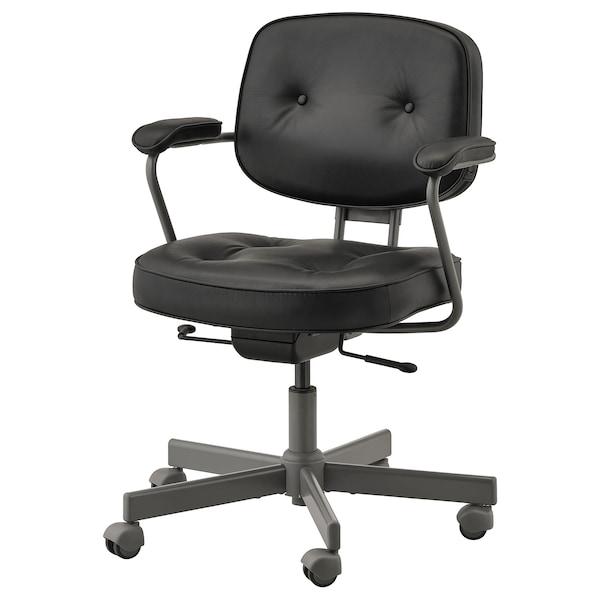 Leren Ikea Bureaustoel.Alefjall Bureaustoel Glose Zwart Ikea