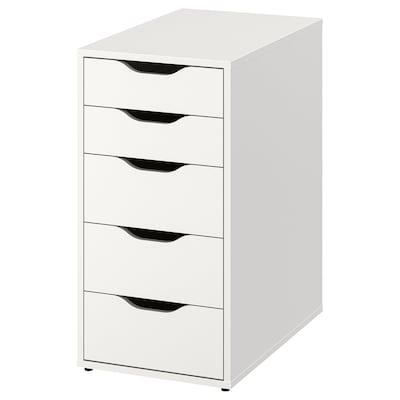 ALEX Ladeblok met lades, wit, 36x70 cm
