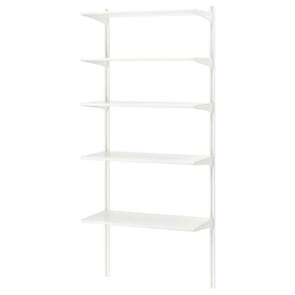 ALGOT wandrail/planken wit 86 cm 41 cm 197 cm