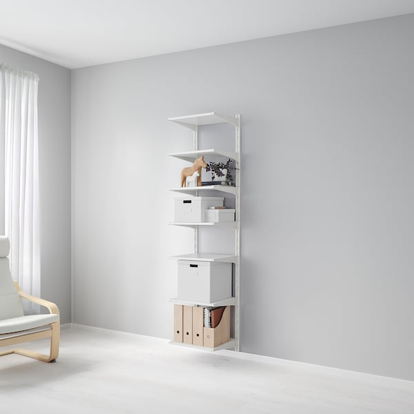 ALGOT wandrail/planken wit 46 cm 41 cm 197 cm
